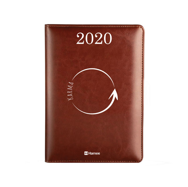 2020 Dark Brown Leather Diary - Karma Circle