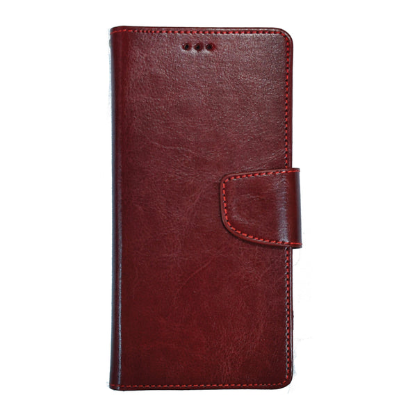PU Leather Flip Cover for iPhone 11 (Brown)