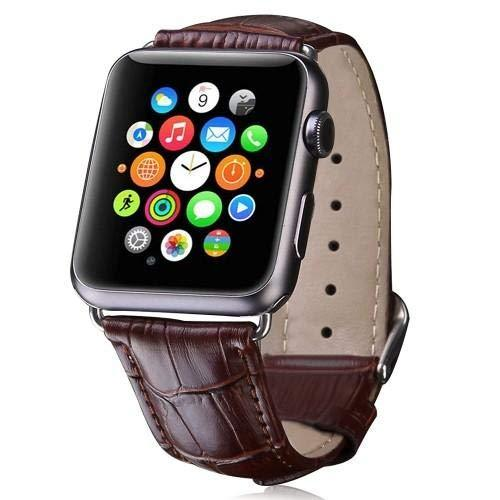 Brown Croc Style Leather Band Strap - Apple Watch Series 5/4/3 (44mm/42mm)