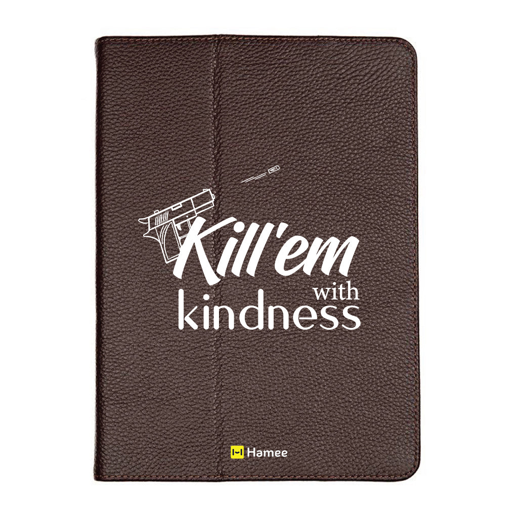 "Kindness - iPad 9.7"" Folio Case Stand (Brown)"