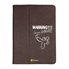 "Warning - iPad 9.7"" Folio Case Stand (Brown)"
