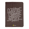 "Learn - iPad 9.7"" Folio Case Stand (Brown)"