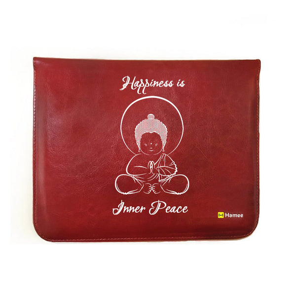 Hamee - Inner Peace - Tan Brown Leather 11 inch Tablet Sleeve-Hamee India