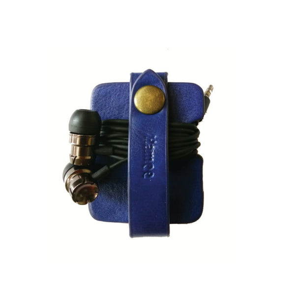 Blue Leather Cable Wrap-Hamee India