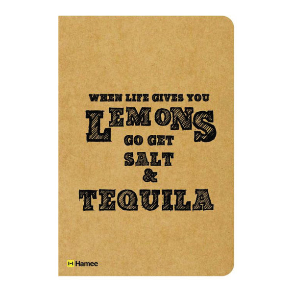 Lemon and Tequila Ruled Craft Notebook-Hamee India