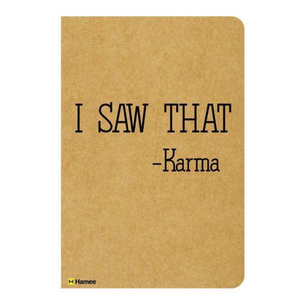 Karma Ruled Craft Notebook-Hamee India