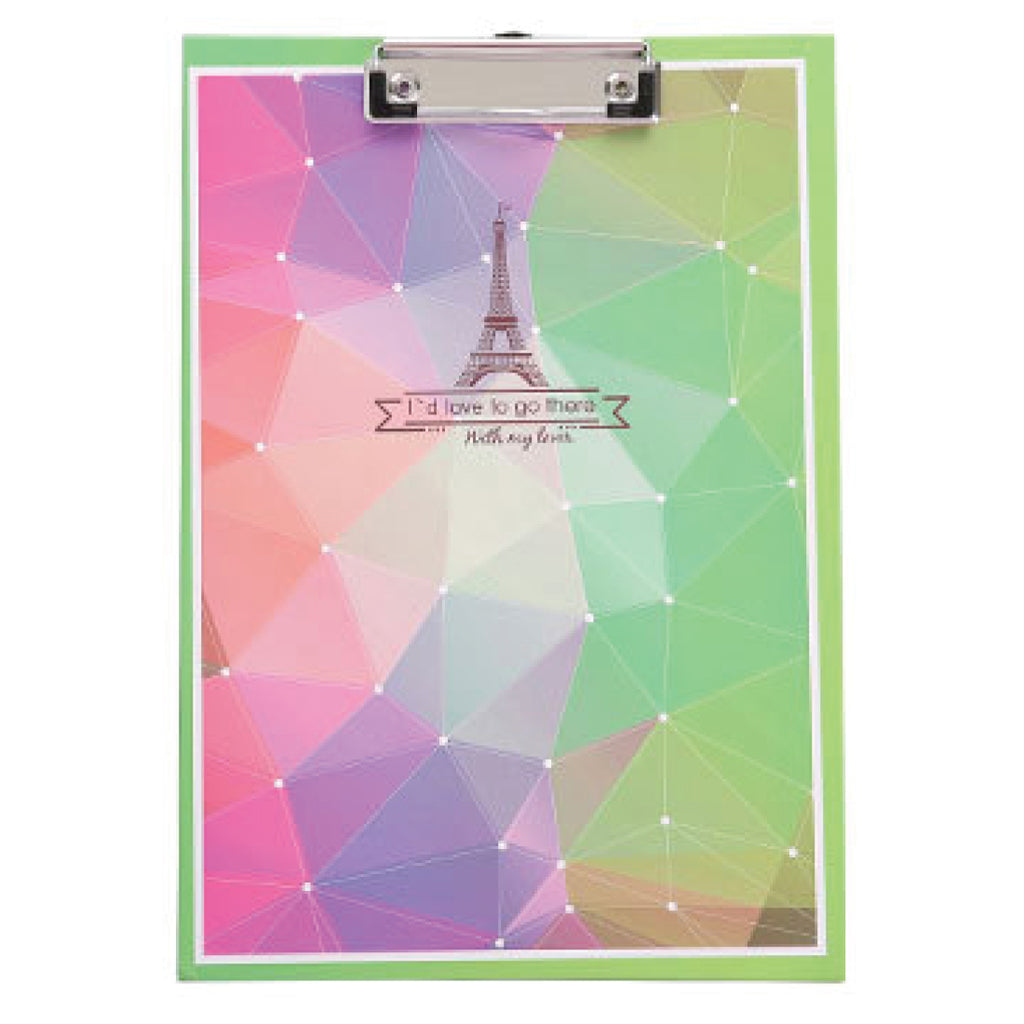 Green Eiffel Clipboard Writing Pad-Hamee India