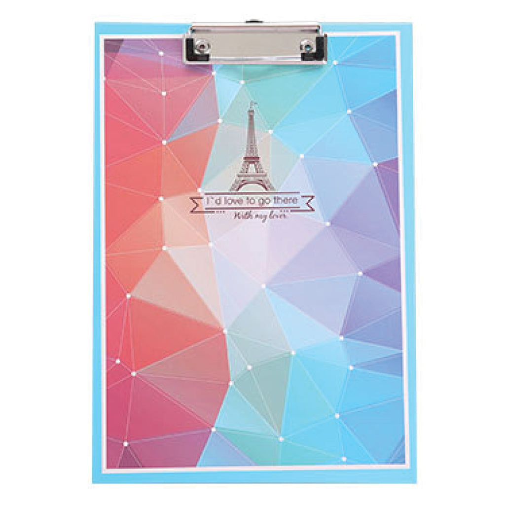 Blue Eiffel Clipboard Writing Pad-Hamee India