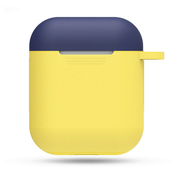 Silicone Airpods Case - Blue & Yellow