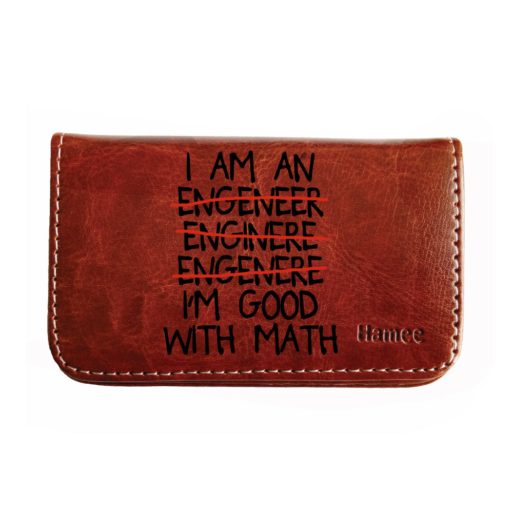 Good With Math Business / Visiting Card Holder-Hamee India