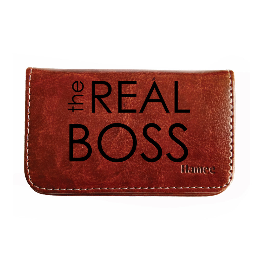 the best attitude 80ba7 07a56 Real Boss Business / Visiting Card Holder