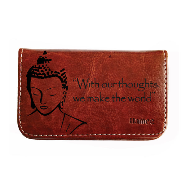 Card holders leather card holders online at best prices hamee india hamee pocket sized stitched leather visiting card case holder business card and credit card holder reheart Choice Image