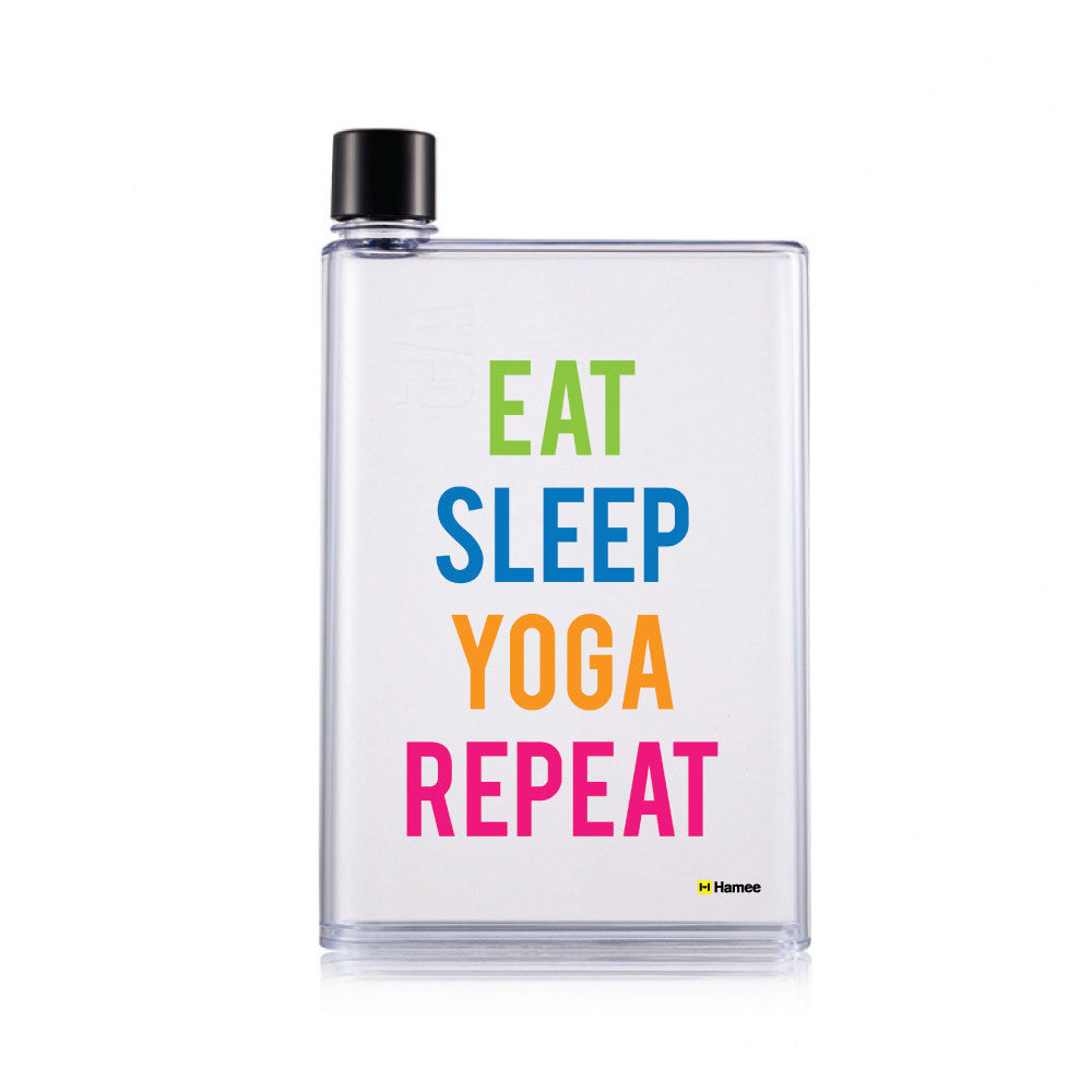 Yoga Repeat - Clear Water Bottle (420 ml)-Hamee India
