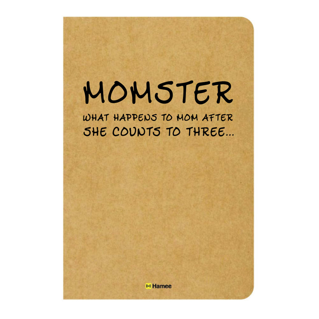Momster Ruled Craft Notebook-Hamee India