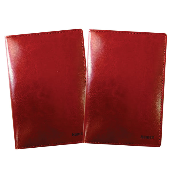 Plain Brown PU Leather Passport Wallet / Holder (Set of 2)-Hamee India