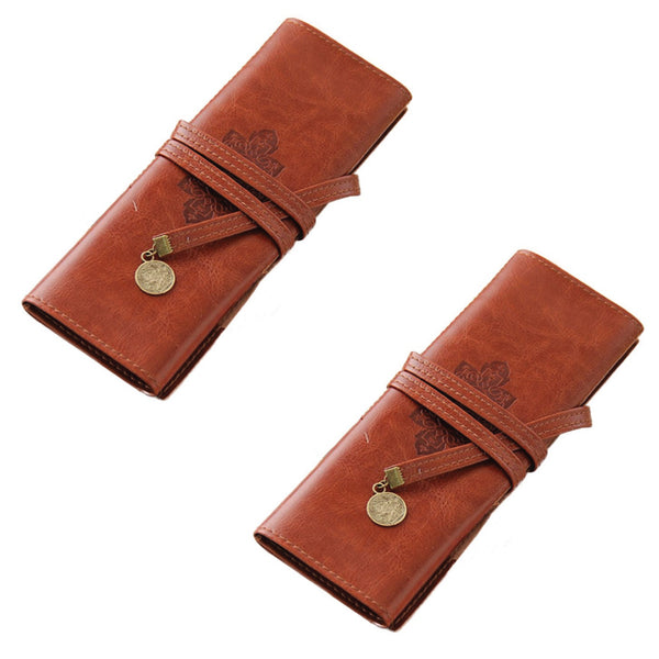 PU Leather Pencil Wrap Case (Set of 2)-Hamee India