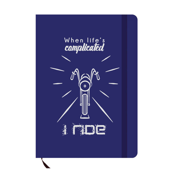 I Ride Blue A6 Pocket Diary-Hamee India