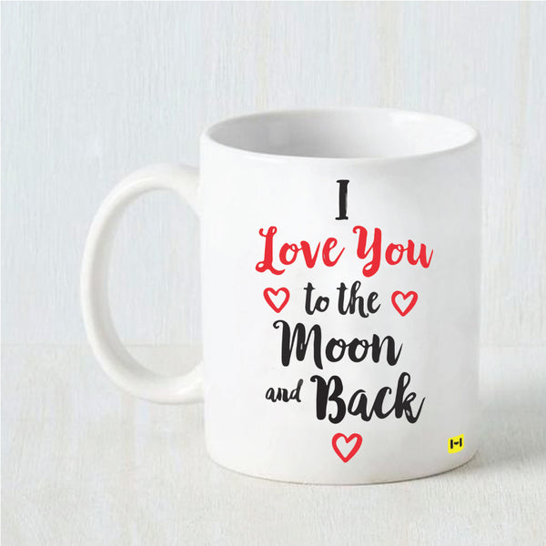 Hamee Valentine's Day Special- Love you to the Moon and Back- White Coffee Mug