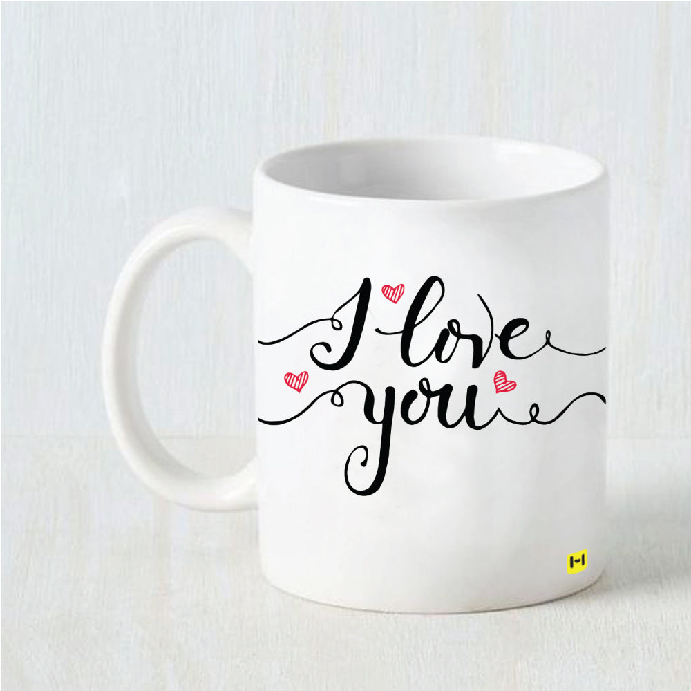 Hamee Valentine's Day Special- Love You- White Coffee Mug-Hamee India