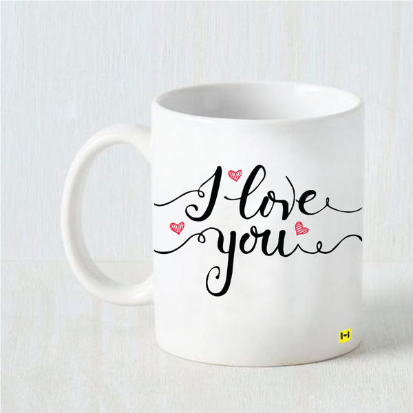 Hamee Valentine's Day Special- Love You- White Coffee Mug