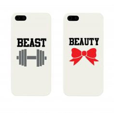 "Hamee Back Cover for iPhone 5 / 5S / SE / 5SE "" Beauty & The Beast Special Pack of Two Combo 15 "" - Hamee India"