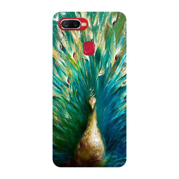 Peacock Paint Oppo F9 Pro Back Cover-Hamee India
