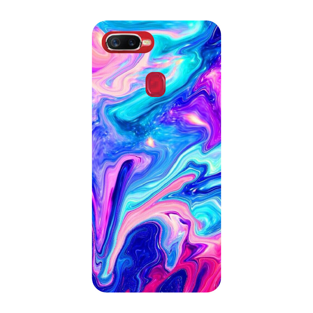 big sale 3b45f 07e29 Abstract Marble Oppo F9 Pro Back Cover