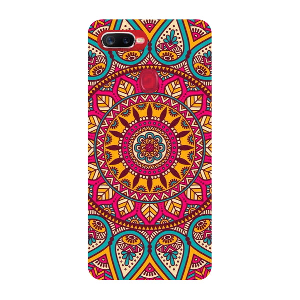 Pink Mandala Oppo F9 Pro Back Cover-Hamee India