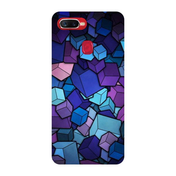 Cubes Oppo F9 Back Cover-Hamee India