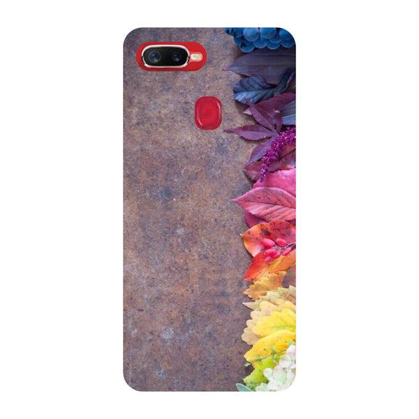 Brown Flowers Oppo F9 Back Cover-Hamee India