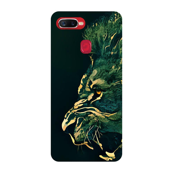 Dark Lion Oppo F9 Back Cover-Hamee India