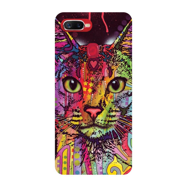 Cat Art Oppo F9 Back Cover-Hamee India