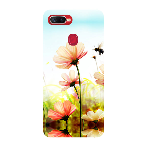 Flowers Field Oppo F9 Pro Back Cover-Hamee India