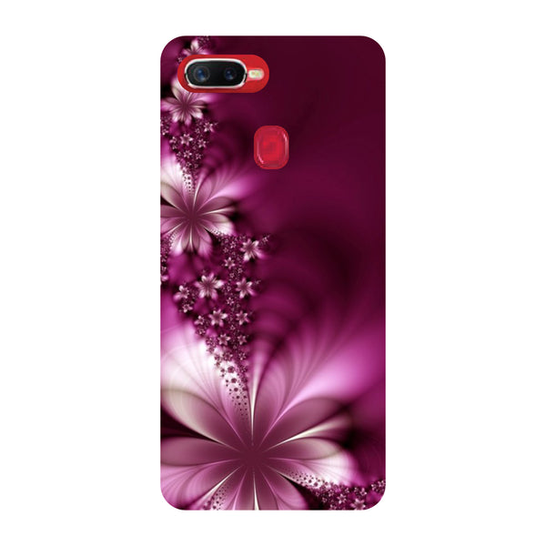 Purple Flowers Oppo F9 Pro Back Cover-Hamee India