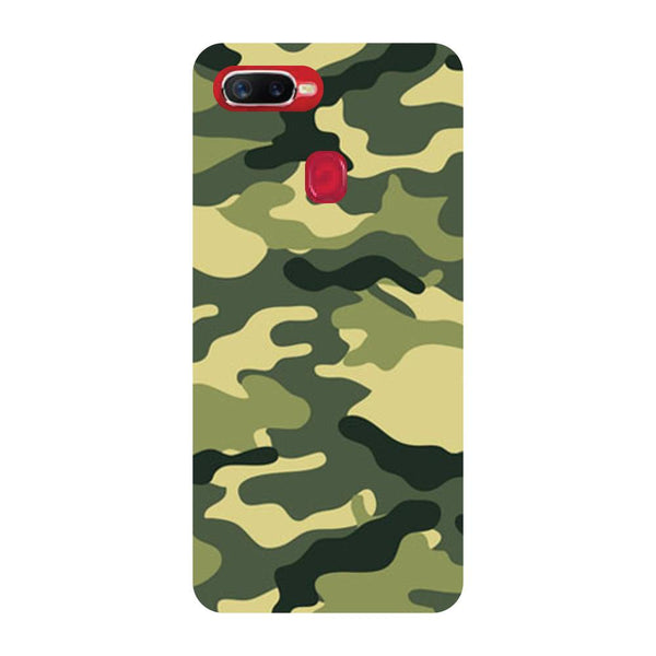 Camouflage Oppo F9 Back Cover-Hamee India