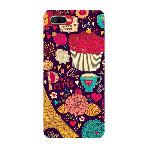 Paris Doodles Oppo F9 Pro Back Cover-Hamee India
