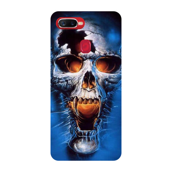 Scary Skull Oppo F9 Pro Back Cover-Hamee India