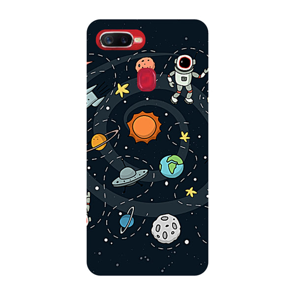 Space Oppo F9 Pro Back Cover-Hamee India