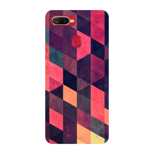 Pink Abstract Oppo F9 Pro Back Cover-Hamee India