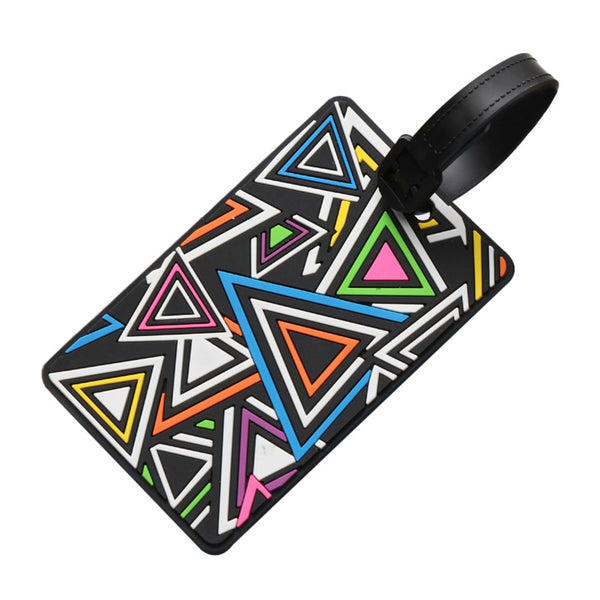 Triangles - Silicon Luggage Tag-Hamee India