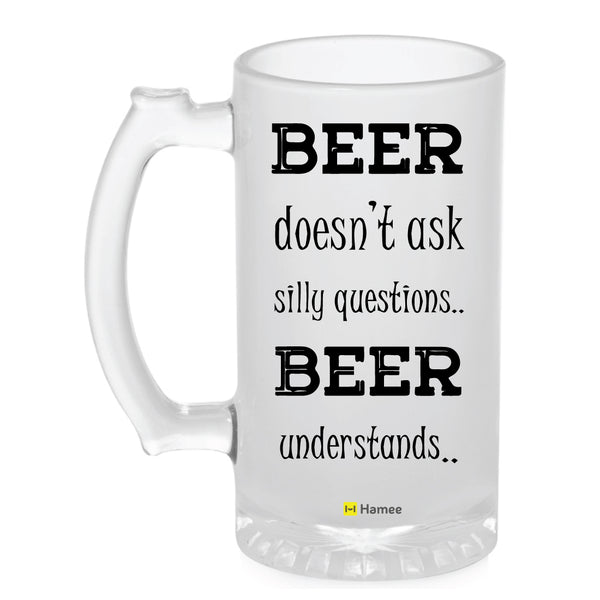 Frosted Glass Beer Mug- Beer Understands-Hamee India