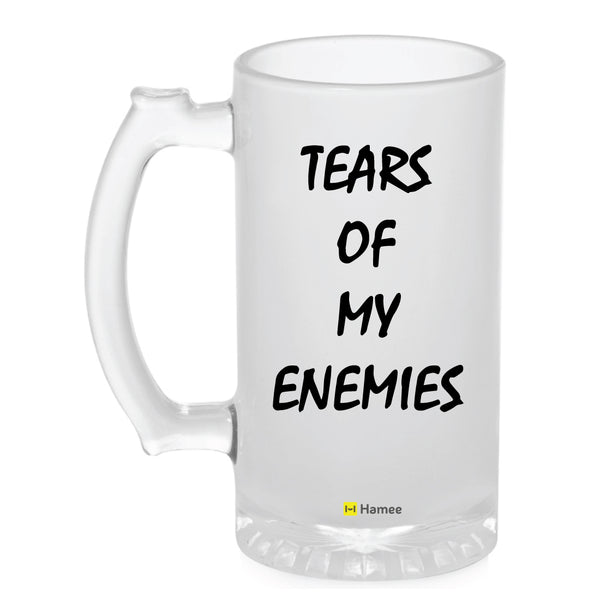 Frosted Glass Beer Mug- Tears Of My Enemies-Hamee India