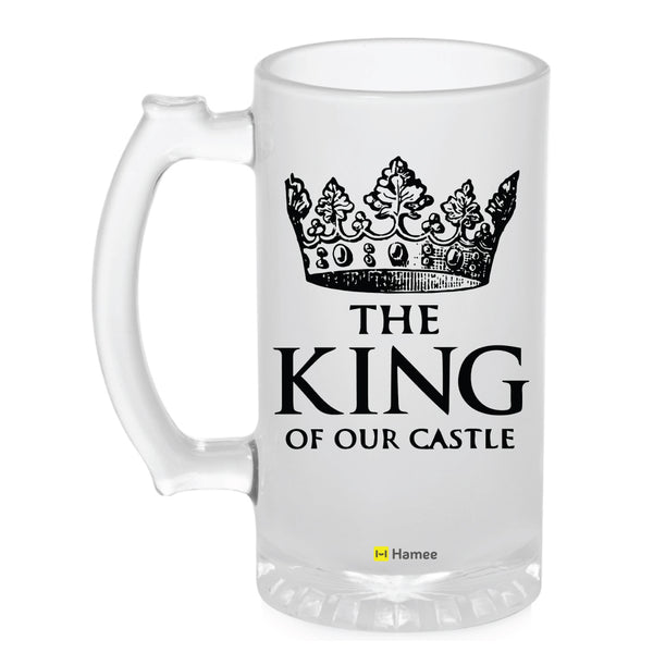 Frosted Glass Beer Mug- The King-Hamee India