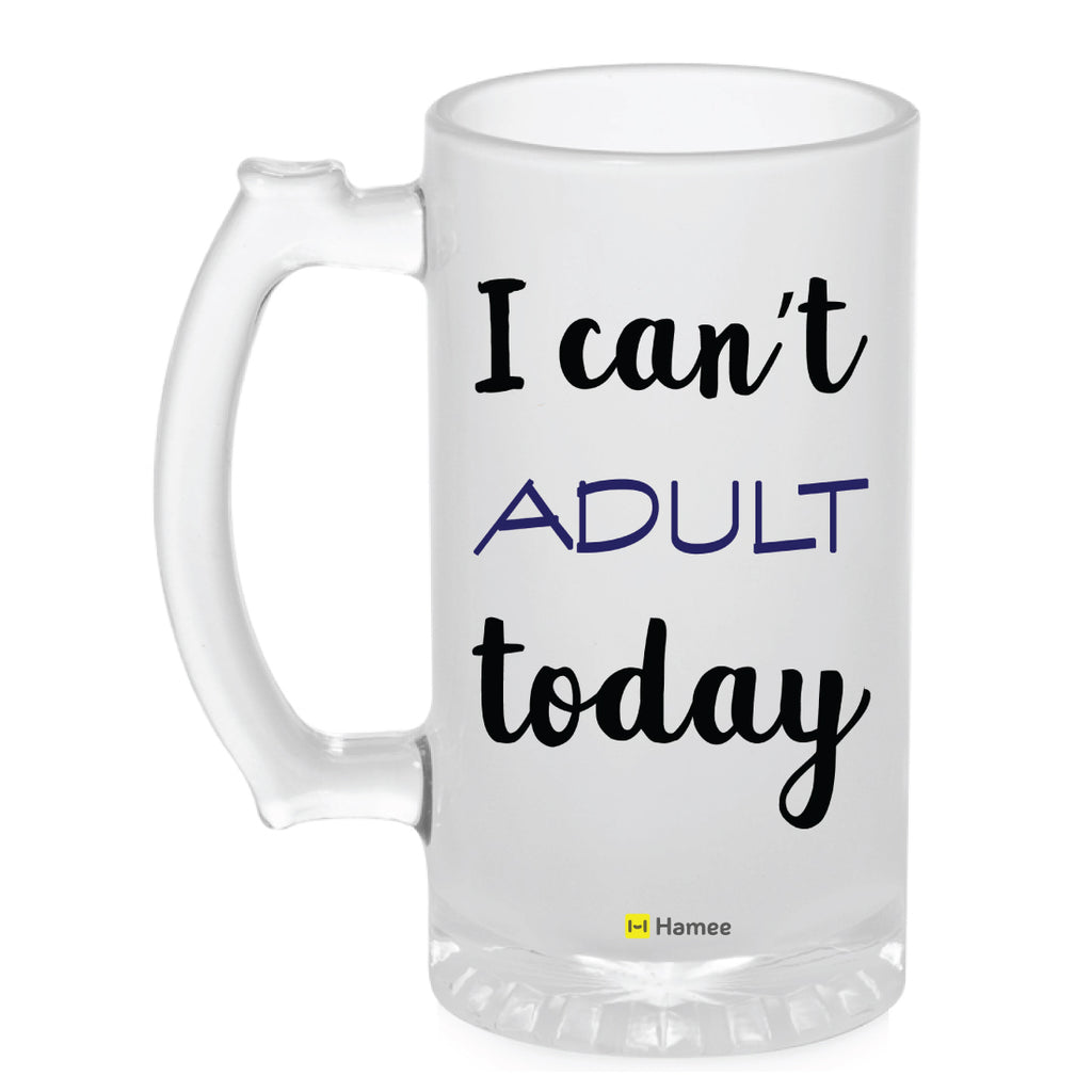 Frosted Glass Beer Mug- Adult Today-Hamee India