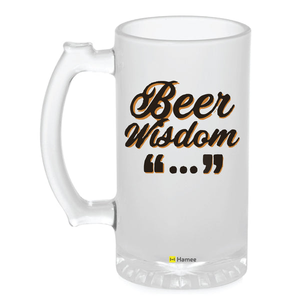 Frosted Glass Beer Mug- Beer Wisdom-Hamee India
