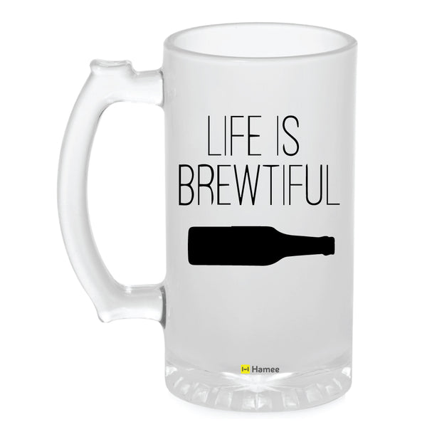 Frosted Glass Beer Mug- Brewtiful-Hamee India
