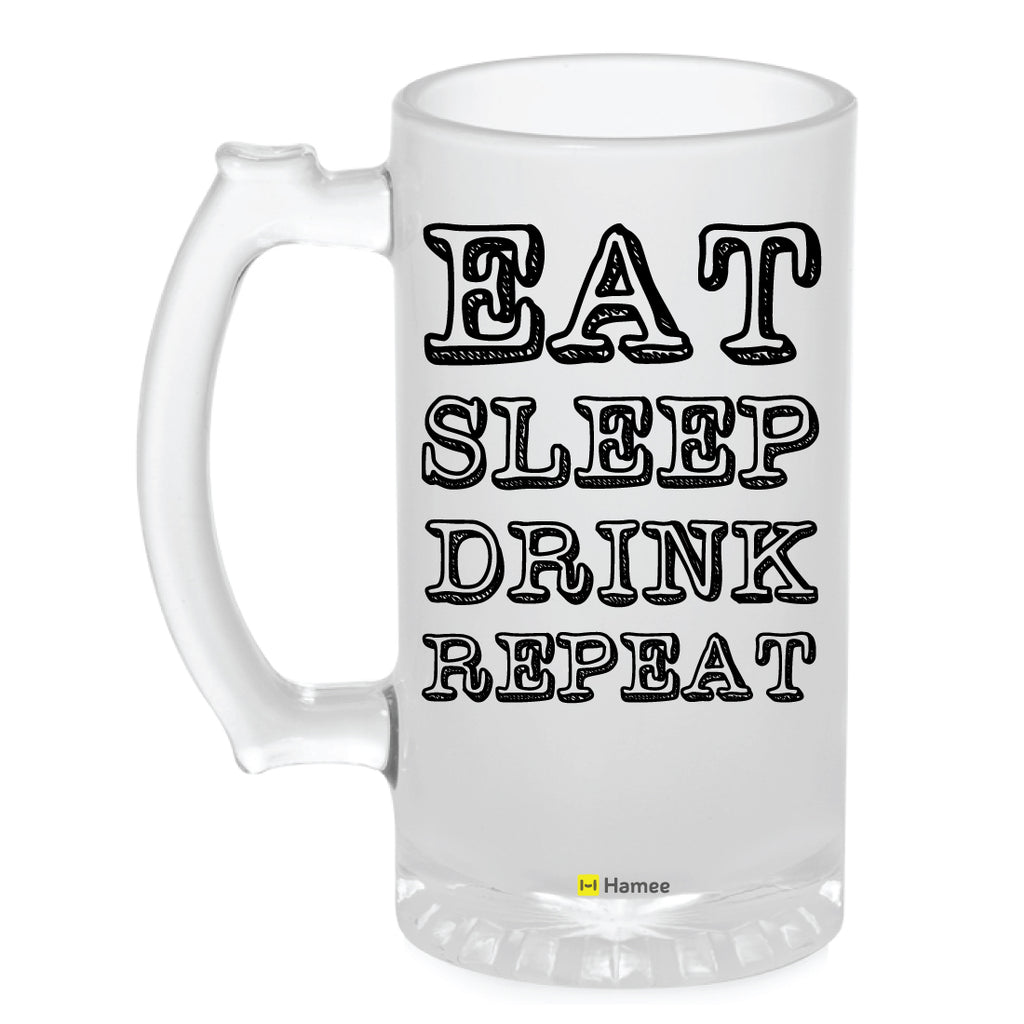 Frosted Glass Beer Mug- Drink Repeat-Hamee India