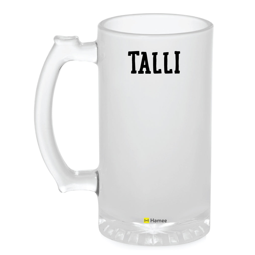 Frosted Glass Beer Mug- Talli-Hamee India