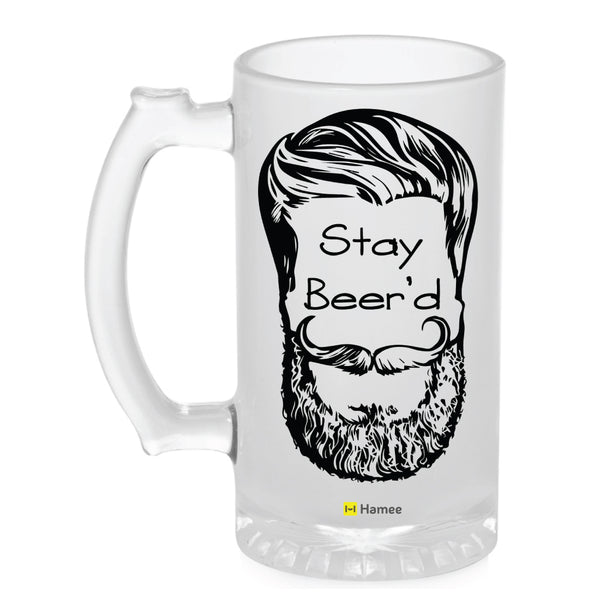 Frosted Glass Beer Mug- Stay Beer'd-Hamee India