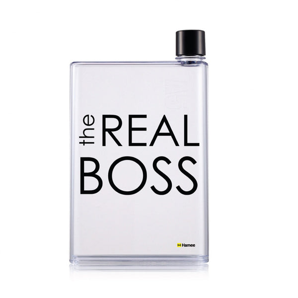 Hamee - The real Boss - Notebook Style Portable Transparent Memo Water Bottle (420 ml)